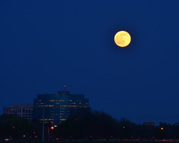 Full Moon over the Canada Post Building Ottawa, ON