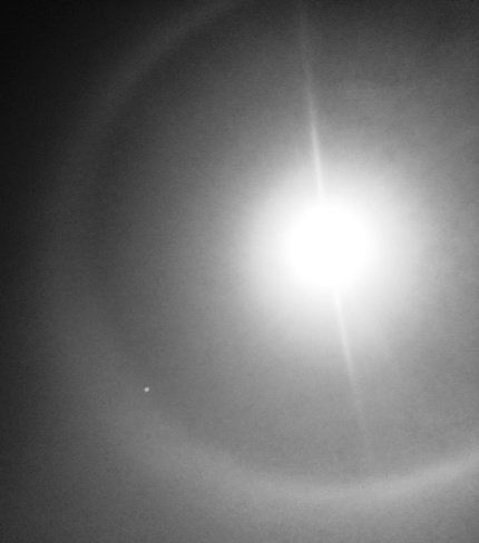 A halo around the sun inNew Westminster, BC New Westminster, BC