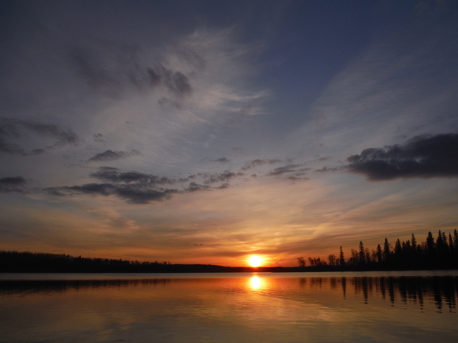 Sunset on Islet Lake, close to Tofield, Alberta Islet Lake, Beaver County, AB