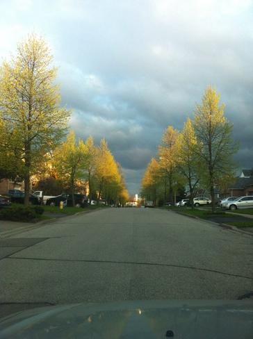 cloudy Ajax, Ontario Canada
