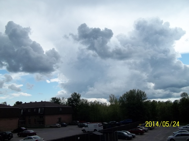 Gathering storm clouds, from our balcony Brockville, ON