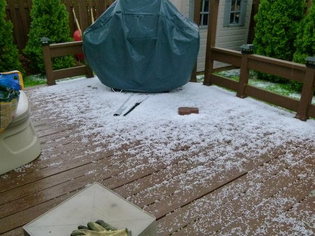 Hail storm Orléans, Ottawa, ON