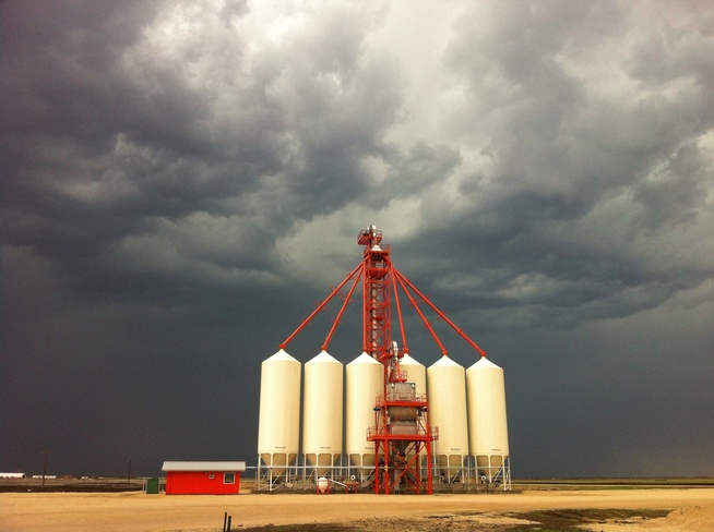 Storm Clouds over Richardson Pioneer(South Lakes) north of Winnipeg Unnamed Road, Stony Mountain, MB R0C 3A0, Canada