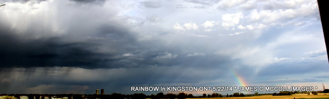 Blackish Rainbow During Severe Wather In Kingston Ontario