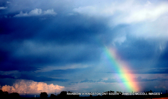 Wolfe Island Rainbow - During Thunderstorm in Kingston