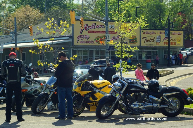 It's a Perfect 2 Wheeling Day Port Dover, Ontario Canada