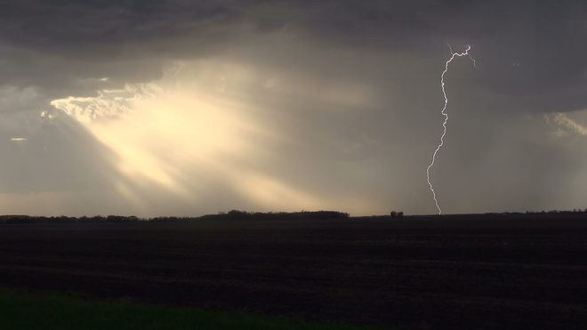 Lightning from May 24 near Carman, MB Boundary Commission Trail, Carman, MB R0G 0J0, Canada
