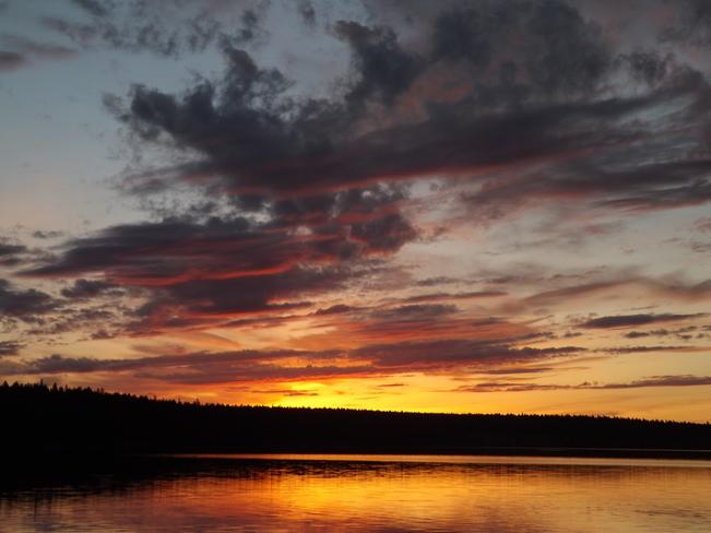 Felker Lake sunset B.C
