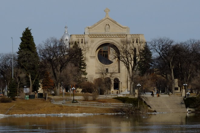 Cathédrale de Sainte-Boniface (Early Days of a Lately Arrived Spring) Winnipeg, Manitoba Canada