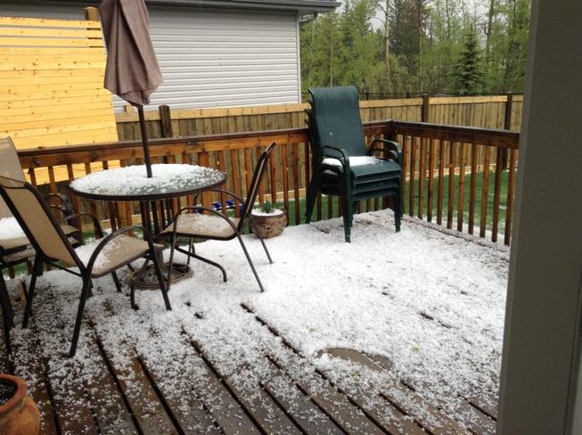 Hail storm Devon, AB