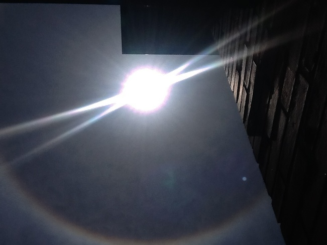 Halo around sun earlier today Montreal, QC