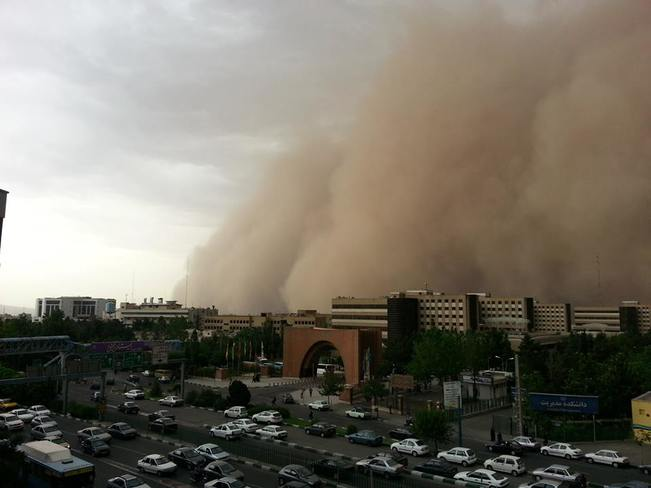 Tehran, Iran, Engulfed By Massive Dust Storm; At Least Four Deaths Reported Tehran, Iran