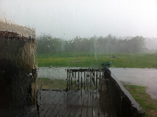 quick storm Iroquois Falls, Ontario Canada