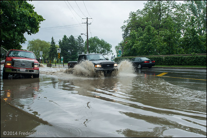 Severe storm creates flash flooding in Dorval, Quebec 5610-5640 Lakeshore Drive, Lachine, QC H8T, Canada