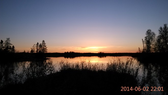 Sunset at Bowden Lake 62 Tait Road, Division No. 22, Unorganized, MB, Canada