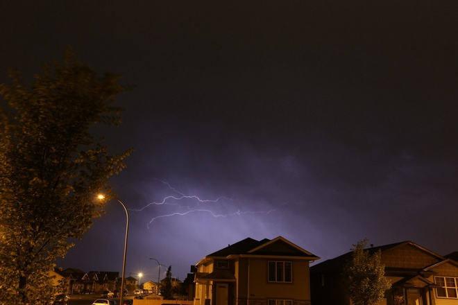 storm this morning 7/6/14 Red Deer, Alberta Canada