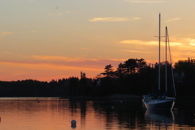 Lovely Sunset in Chester, Back Harbour Chester, Nova Scotia