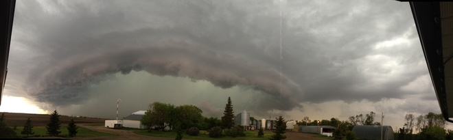 here comes the storm Elgin, Manitoba Canada