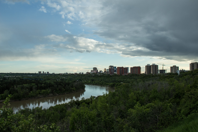 Rainy and cloudy Summer Edmonton, AB