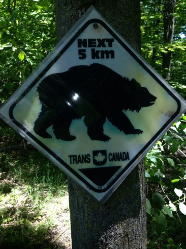 good warning sign Hill Island, Ontario Canada