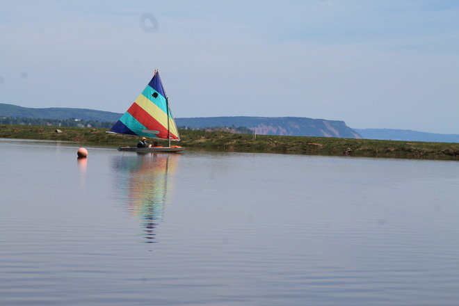 Wolfville, Nova Scotia- Sailing Capital of the Annapolis Valley Old Dyke Lane, Wolfville, NS, Canada