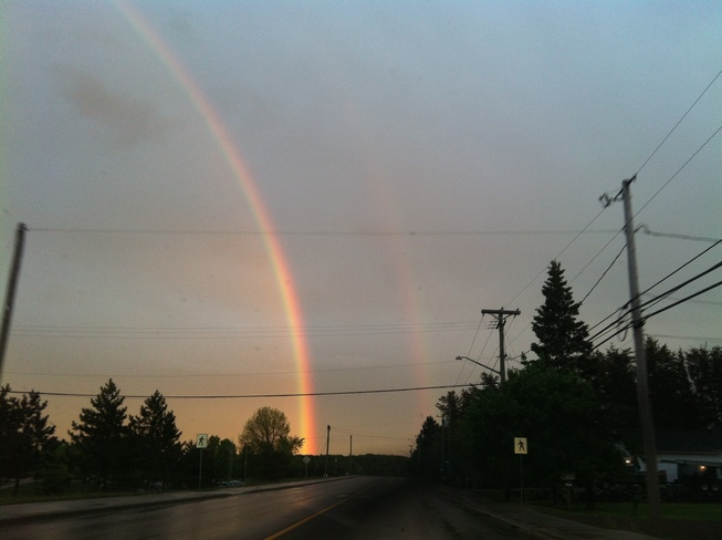 a beautiful double rainbow Moncton, New Brunswick Canada