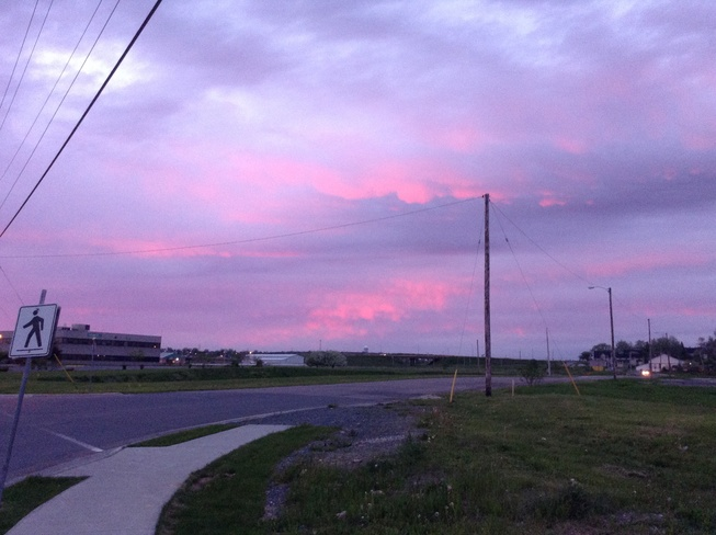 Red Clouds during Sunset Sydney, Nova Scotia Canada