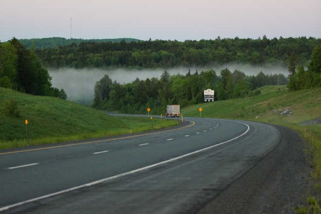 Fogging over the Saint John Valley Near Fredericton, NB, Canada