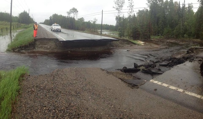 Washout! Fort Frances, Ontario Canada