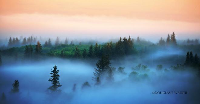 Morning mist. Kenosee Lake, SK
