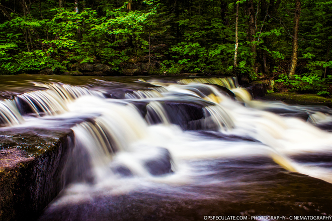 Hwy 518 - One of the Magnetawan River feeds and falls just outside of the park Kearney, ON