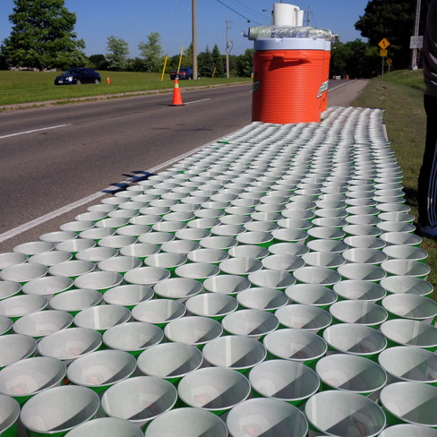 Waterloo 10k Classic - the water station is ready Waterloo, Ontario Canada