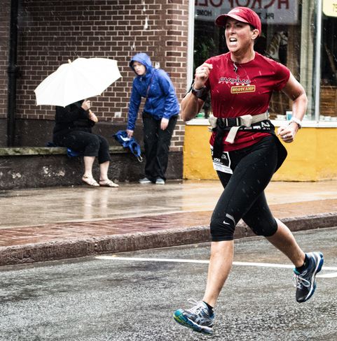 Running in the Rain ( sort of like singing in the rain, but different!) New Glasgow, NS