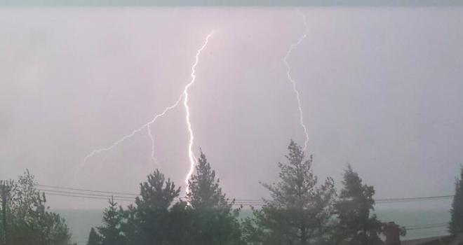 lightning out my window Thunder Bay, ON