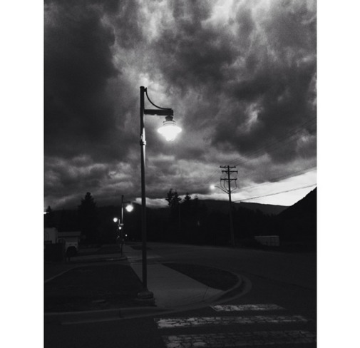 Menacing clouds in downtown Sicamous BC Sicamous, BC