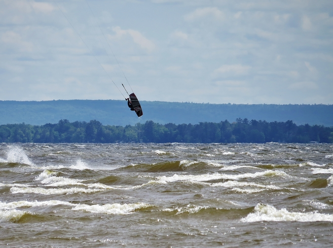 Beauty day, serious hang-time! North Bay, ON