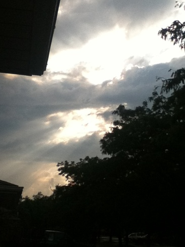 sunshine threw the clouds Niagara Falls, Ontario Canada