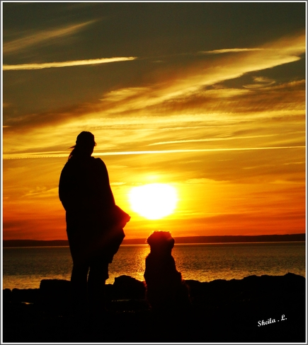 Watching A Late Spring Sunset Canning, Nova Scotia Canada