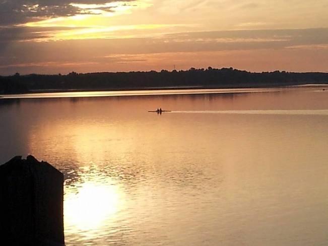 Morning Rowers on Ramsey Lake, Sudbury, Ontario, Canada Sudbury, Greater Sudbury, ON