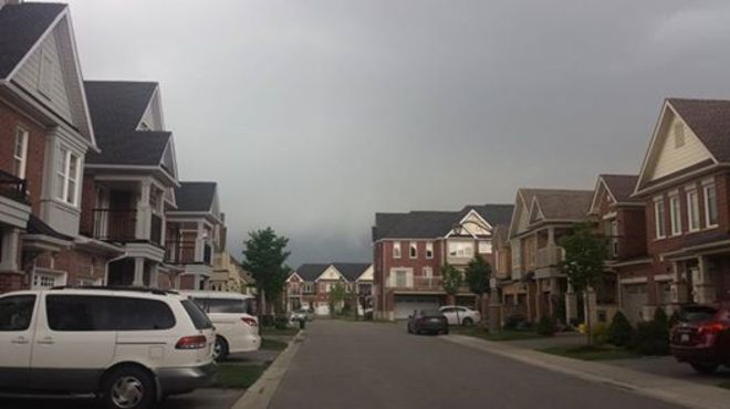 The storm hit Stouffville in 5 minutes. Stouffville, Whitchurch-Stouffville, ON