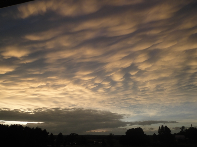 Mammatus Clouds near Frankford ON Frankford, Quinte West, ON