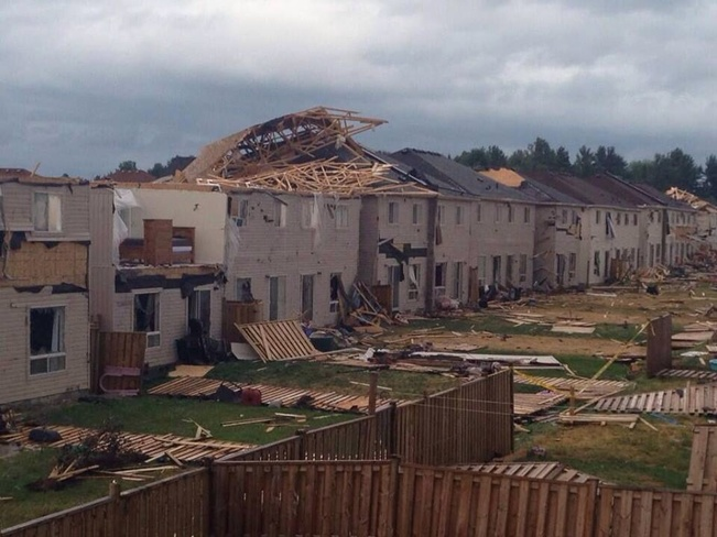 Angus Storm Damage Barrie, Ontario Canada