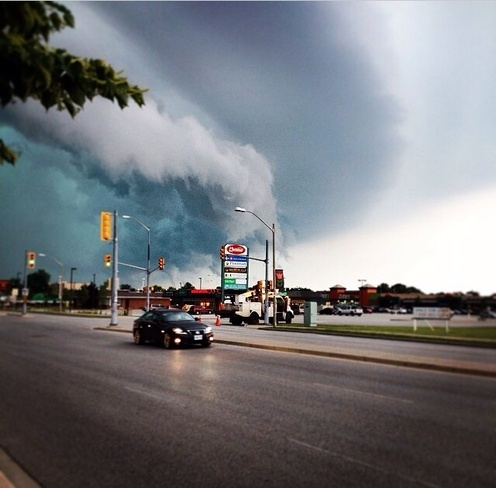 Thunderstorm approching St. Clair Beach, Ontario Canada