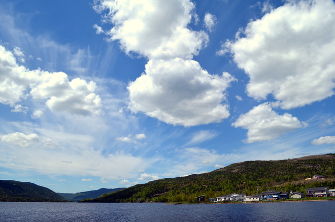 Blue skies Middle Arm, NL
