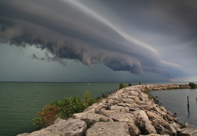Storm front over Lake \St.Clair Windsor ON/ Belle |River