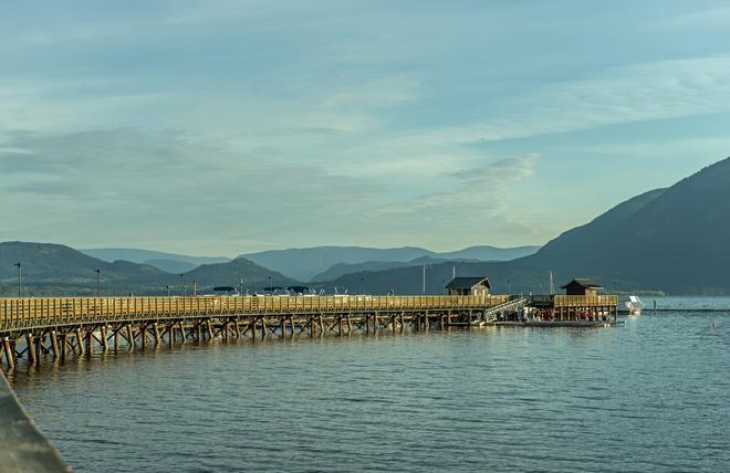 Salmon Arm Bay and Wharf salmon arm wharf, Salmon Arm, BC