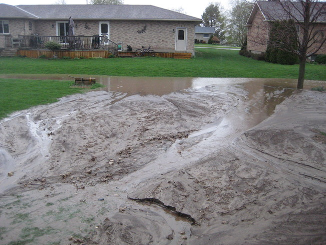 FIELD WASHED SILT 8-10 IN DEEP INTO BACK YARDS Teeswater, ON