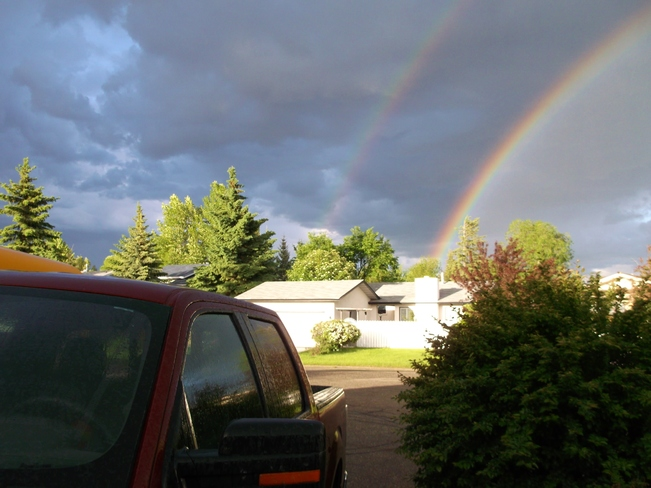More different views of the beautiful rainbows Calgary, AB