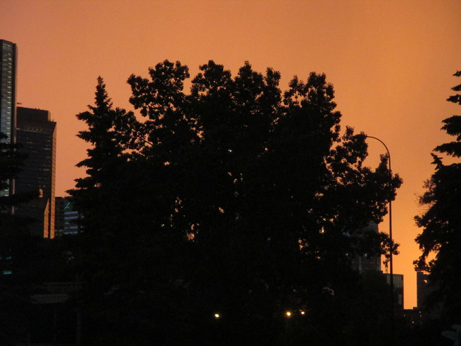 took pics of rain and sunset today. Calgary, AB