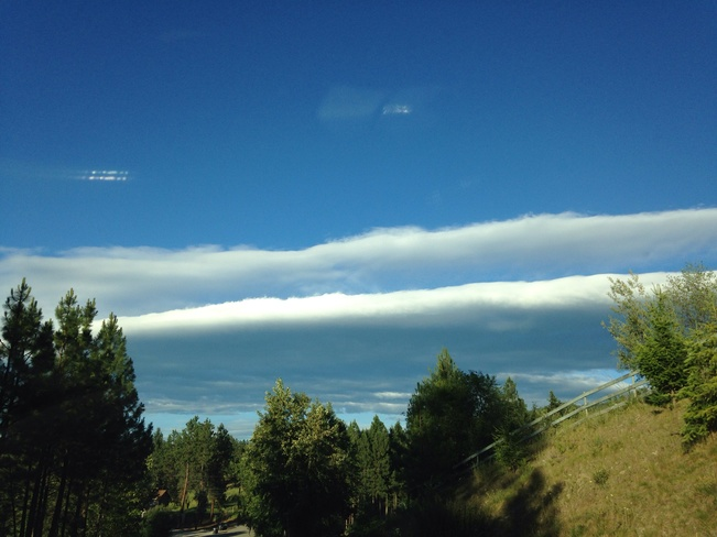 double layer cloud South Kelowna, British Columbia Canada
